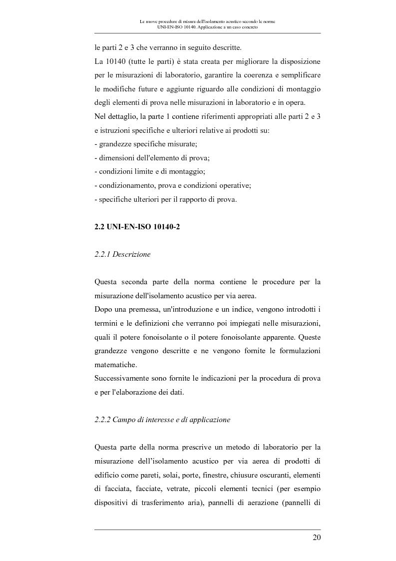 Anteprima della tesi: Le nuove procedure di misura dell'isolamento acustico secondo le norme UNI-EN-ISO 10140: applicazione a un caso concreto, Pagina 3