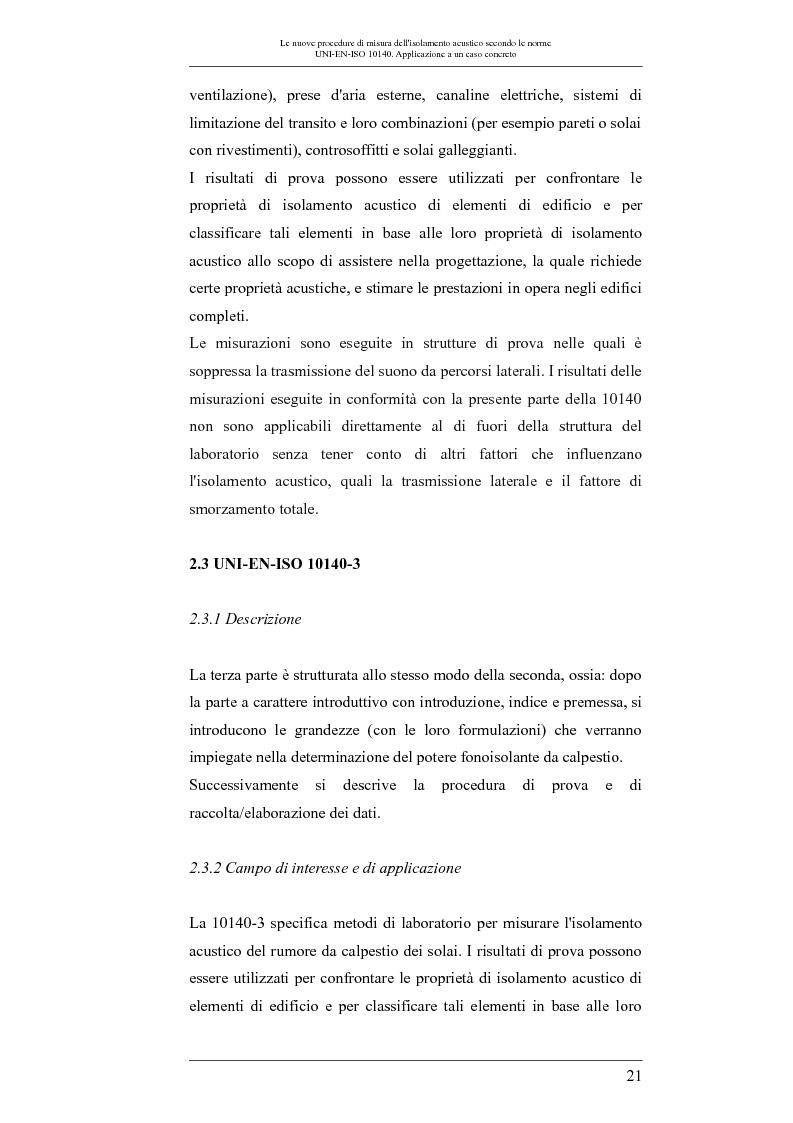 Anteprima della tesi: Le nuove procedure di misura dell'isolamento acustico secondo le norme UNI-EN-ISO 10140: applicazione a un caso concreto, Pagina 4