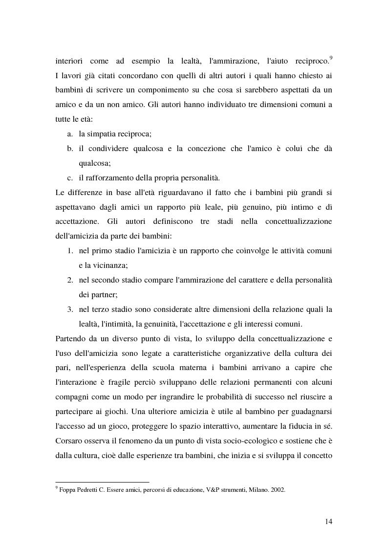 Anteprima della tesi: L'attività grafo-rappresentativa, quale modalità d' espressione del vissuto dell'amicizia, Pagina 12