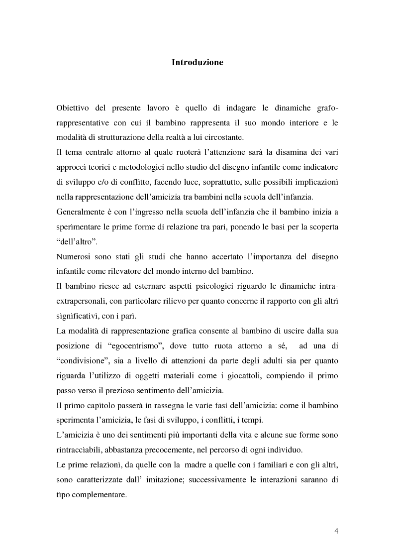 Anteprima della tesi: L'attività grafo-rappresentativa, quale modalità d' espressione del vissuto dell'amicizia, Pagina 2
