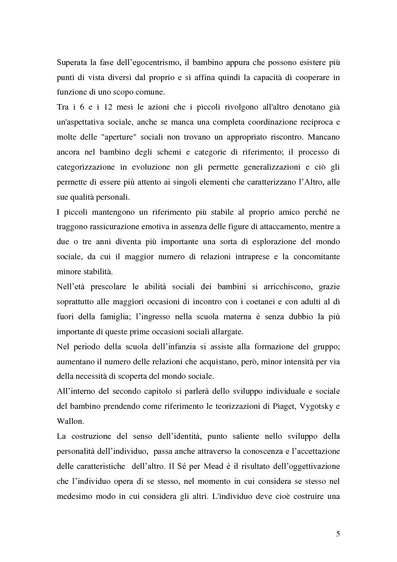 Anteprima della tesi: L'attività grafo-rappresentativa, quale modalità d' espressione del vissuto dell'amicizia, Pagina 3