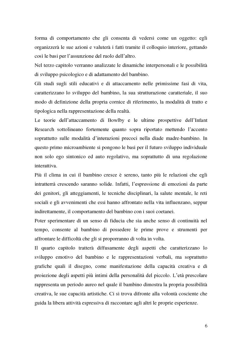 Anteprima della tesi: L'attività grafo-rappresentativa, quale modalità d' espressione del vissuto dell'amicizia, Pagina 4
