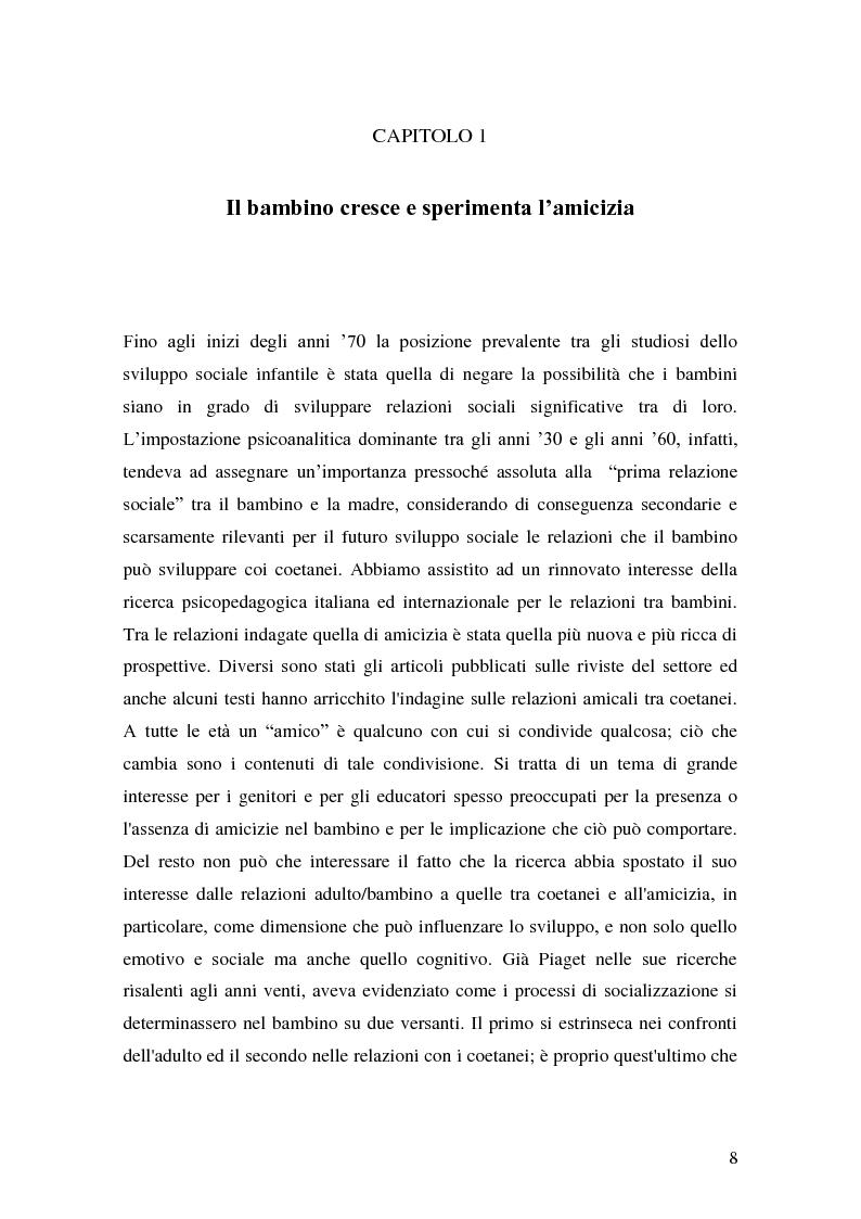 Anteprima della tesi: L'attività grafo-rappresentativa, quale modalità d' espressione del vissuto dell'amicizia, Pagina 6