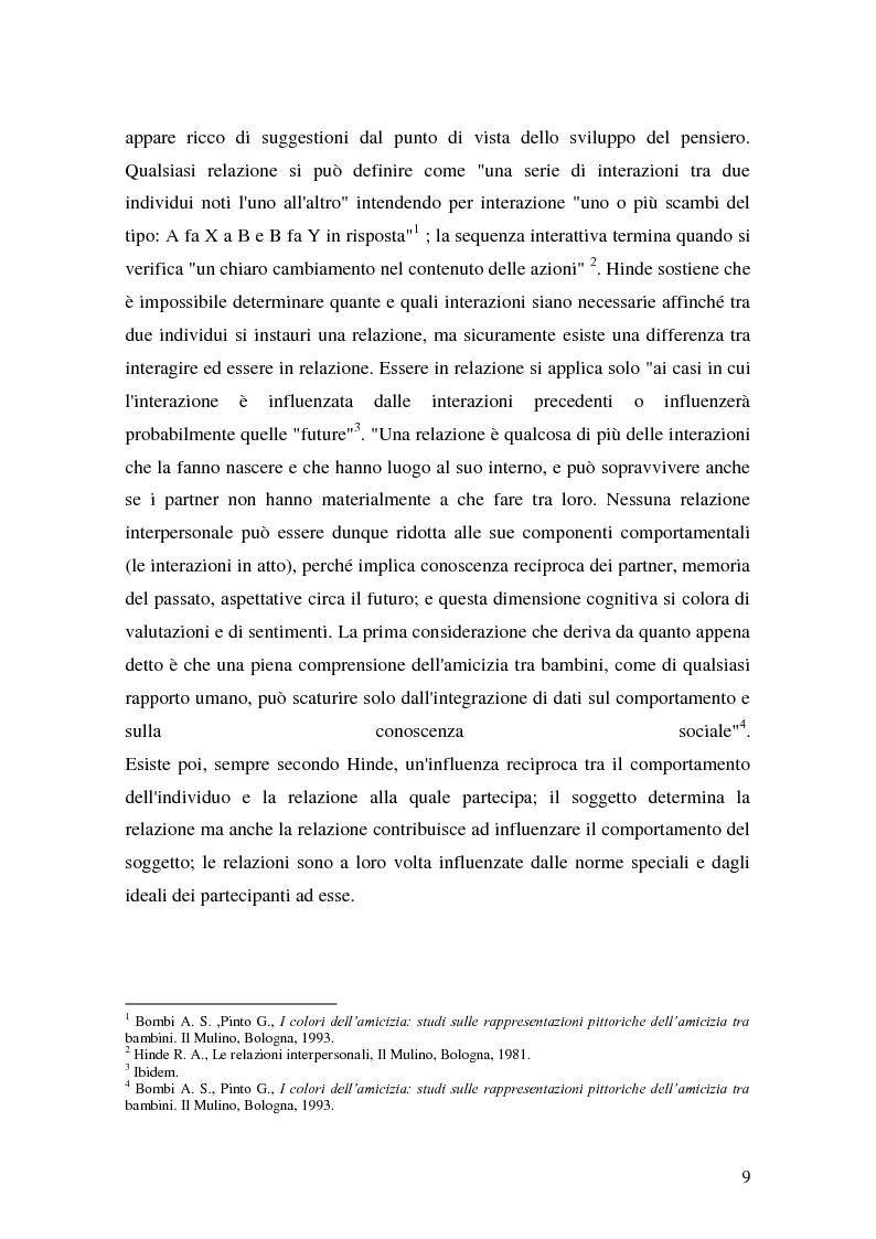 Anteprima della tesi: L'attività grafo-rappresentativa, quale modalità d' espressione del vissuto dell'amicizia, Pagina 7