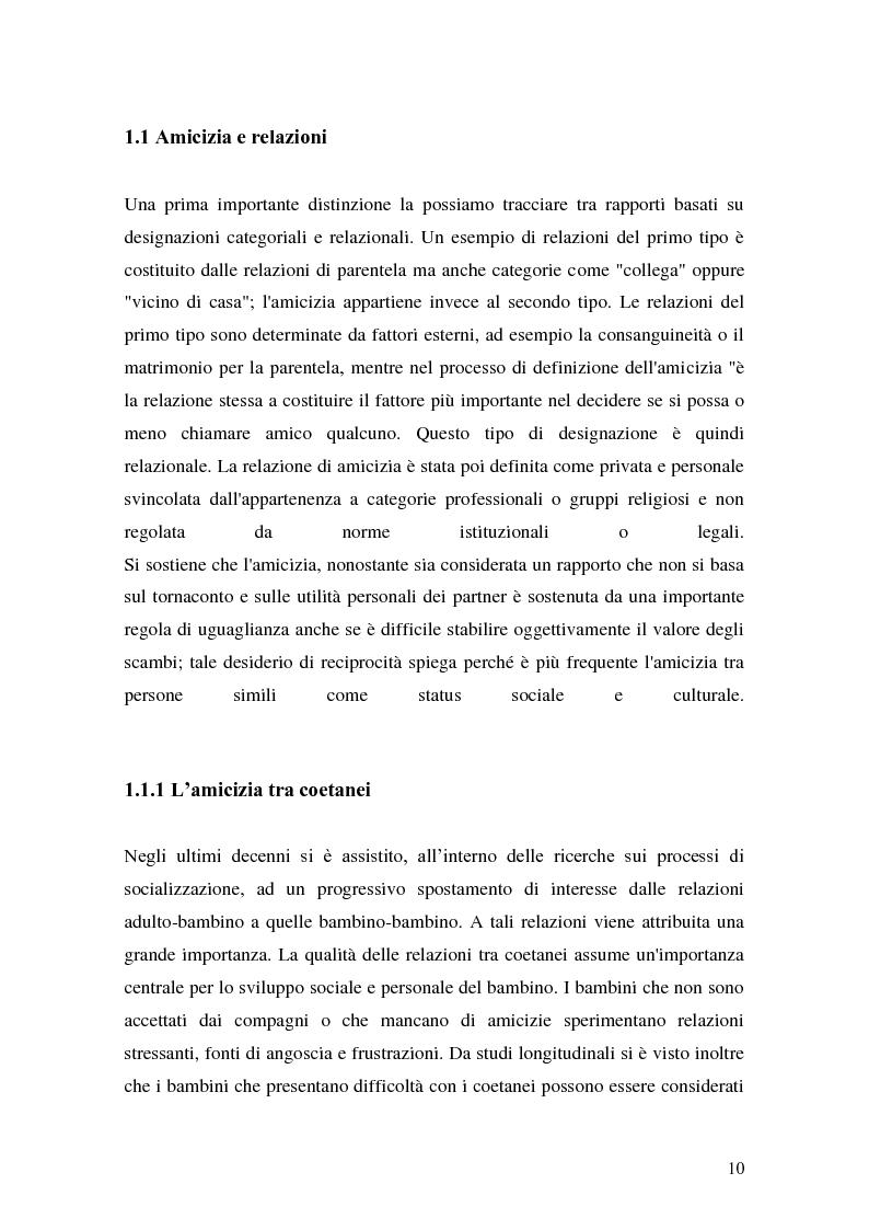 Anteprima della tesi: L'attività grafo-rappresentativa, quale modalità d' espressione del vissuto dell'amicizia, Pagina 8