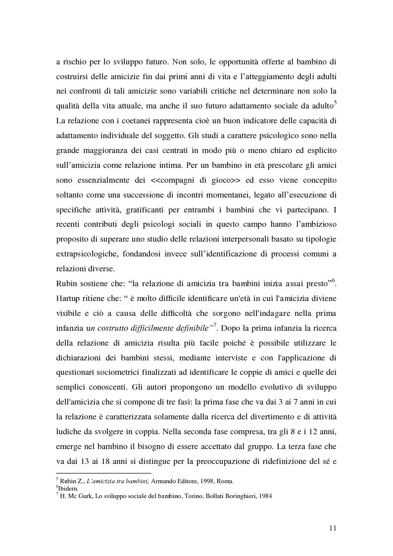 Anteprima della tesi: L'attività grafo-rappresentativa, quale modalità d' espressione del vissuto dell'amicizia, Pagina 9