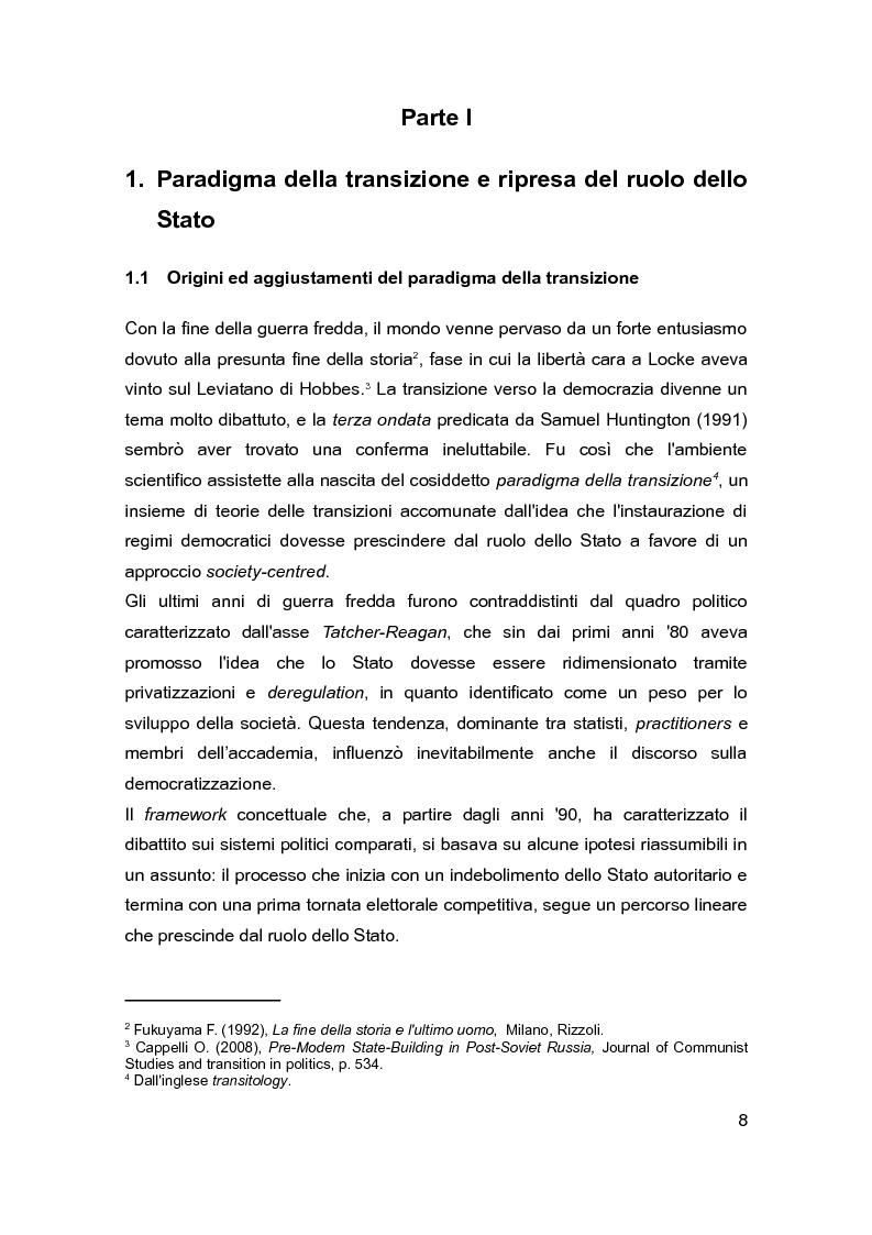 Anteprima della tesi: Democrazia e Statualità nei regimi in transizione: i casi di Israele e della Federazione Russa, Pagina 6