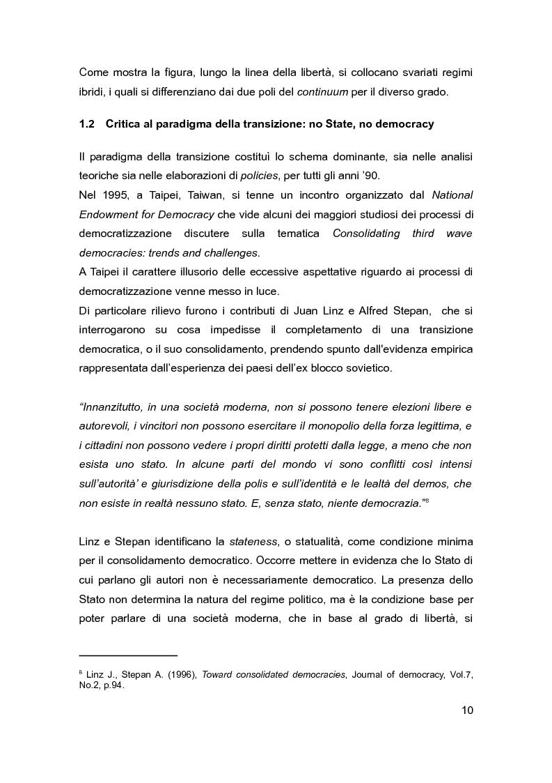 Anteprima della tesi: Democrazia e Statualità nei regimi in transizione: i casi di Israele e della Federazione Russa, Pagina 8