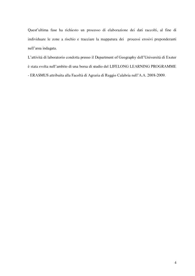 Anteprima della tesi: Contributo all'impiego del radionuclide 210Pb per la stima dell'erosione idrica, Pagina 5