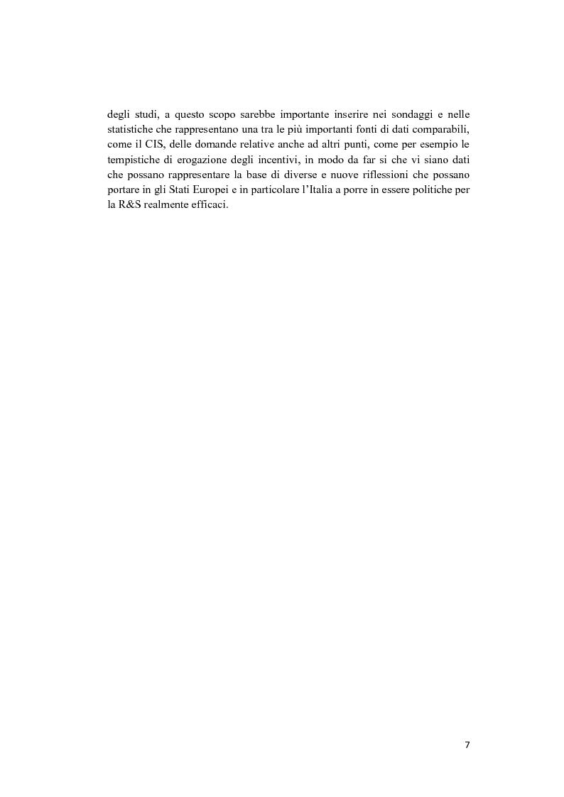 Anteprima della tesi: Le politiche a sostegno della Ricerca e Sviluppo e dell'Innovazione in Europa, Pagina 5