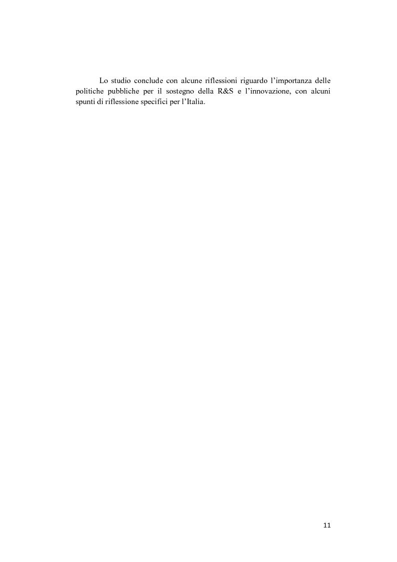 Anteprima della tesi: Le politiche a sostegno della Ricerca e Sviluppo e dell'Innovazione in Europa, Pagina 9