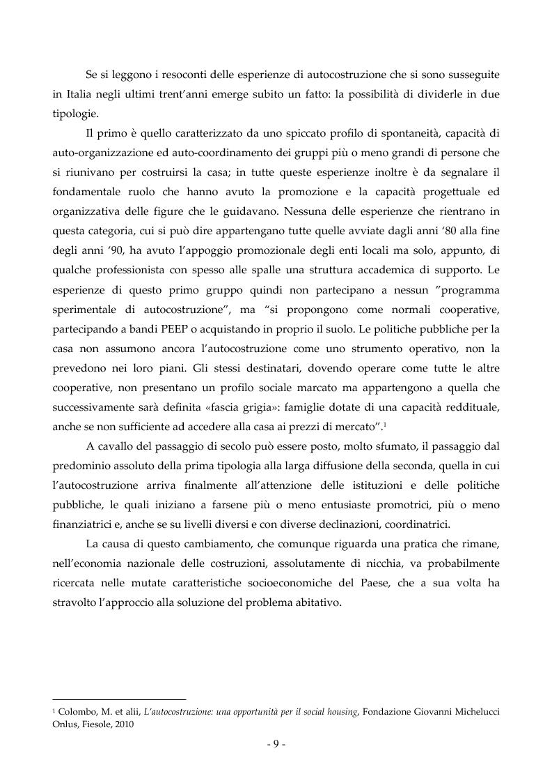 Anteprima della tesi: Autocostruzione: casi, pratiche, politiche, Pagina 4