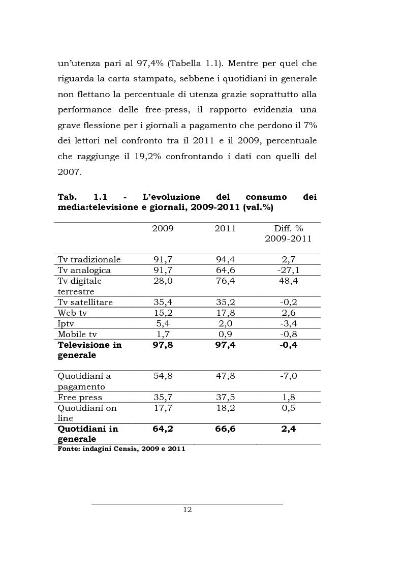 Anteprima della tesi: Lo spazio della cronaca nei telegiornali: un'indagine diacronica, Pagina 11