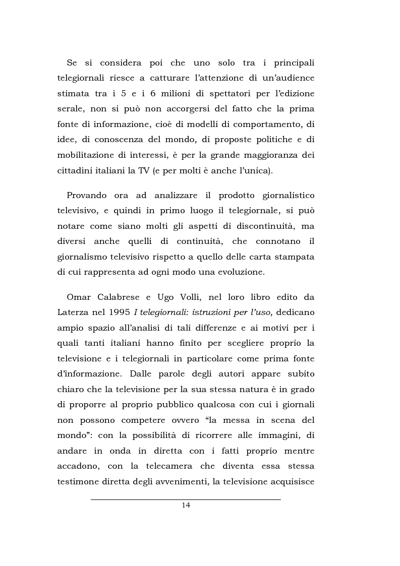 Anteprima della tesi: Lo spazio della cronaca nei telegiornali: un'indagine diacronica, Pagina 13