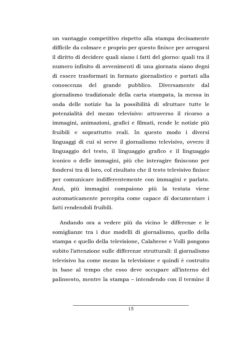 Anteprima della tesi: Lo spazio della cronaca nei telegiornali: un'indagine diacronica, Pagina 14