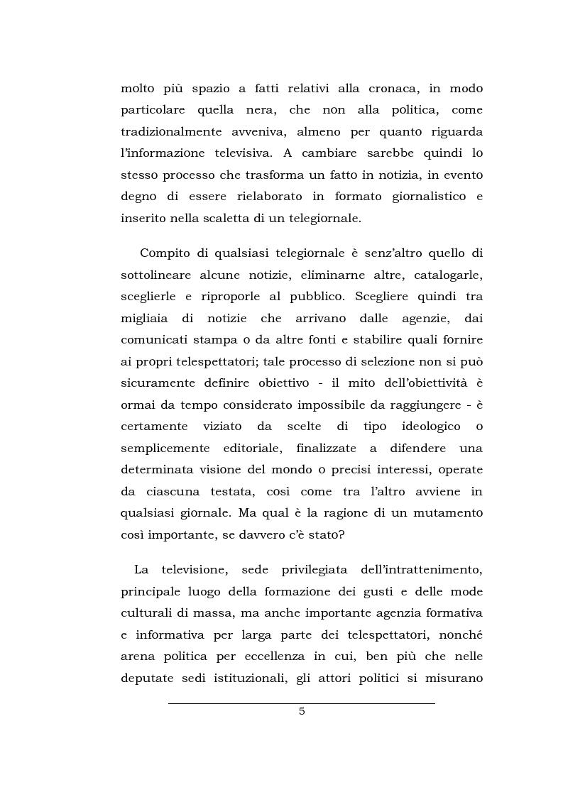 Anteprima della tesi: Lo spazio della cronaca nei telegiornali: un'indagine diacronica, Pagina 4