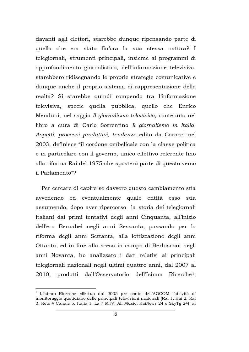 Anteprima della tesi: Lo spazio della cronaca nei telegiornali: un'indagine diacronica, Pagina 5