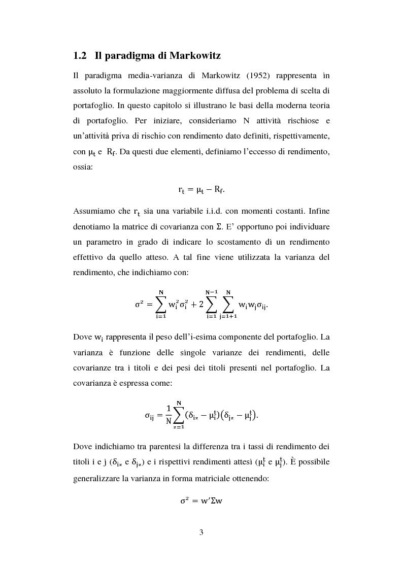 Anteprima della tesi: Analisi comparata di modelli per la gestione di portafoglio, Pagina 6
