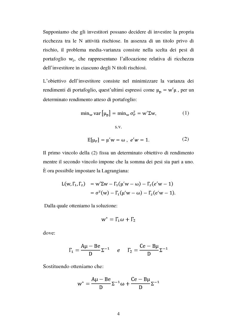 Anteprima della tesi: Analisi comparata di modelli per la gestione di portafoglio, Pagina 7