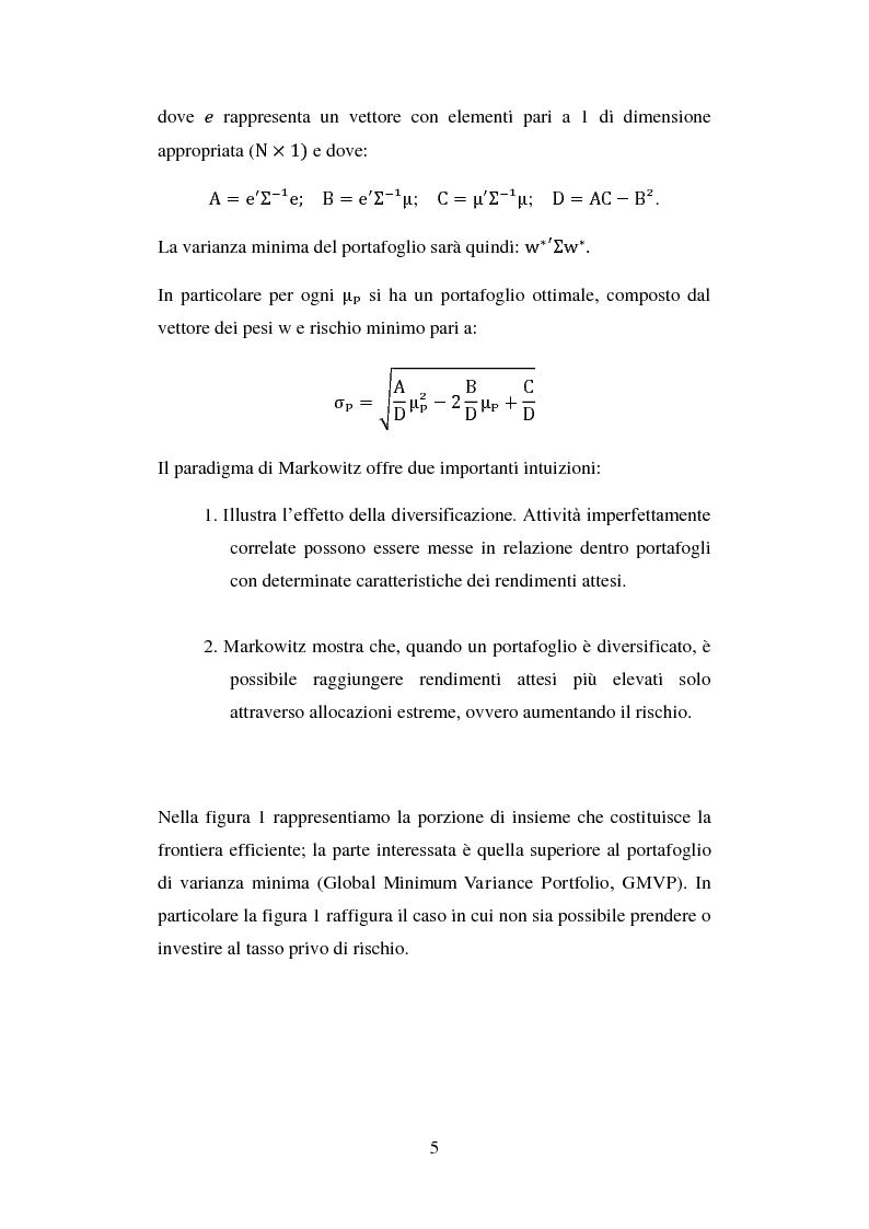 Anteprima della tesi: Analisi comparata di modelli per la gestione di portafoglio, Pagina 8