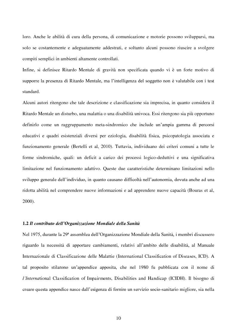 Anteprima della tesi: Interessi e Soddisfazione Lavorativa in un Gruppo di Persone con Menomazione Intellettiva, Pagina 7