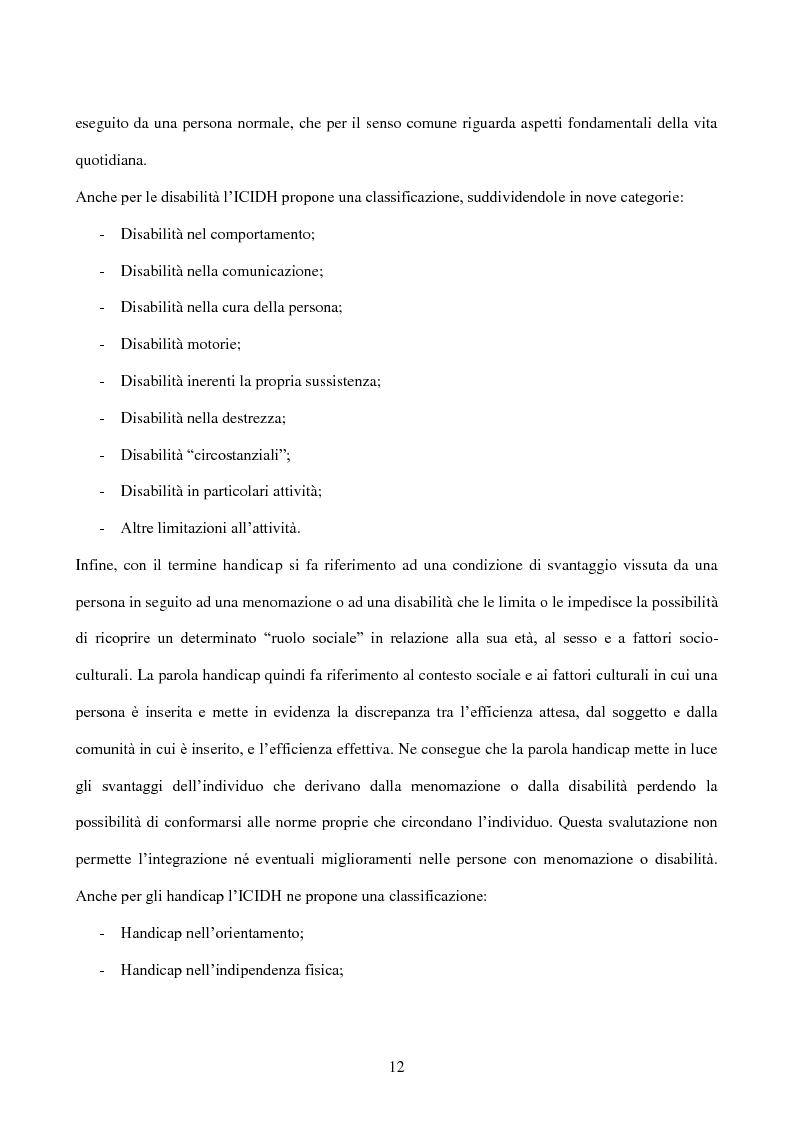 Anteprima della tesi: Interessi e Soddisfazione Lavorativa in un Gruppo di Persone con Menomazione Intellettiva, Pagina 9