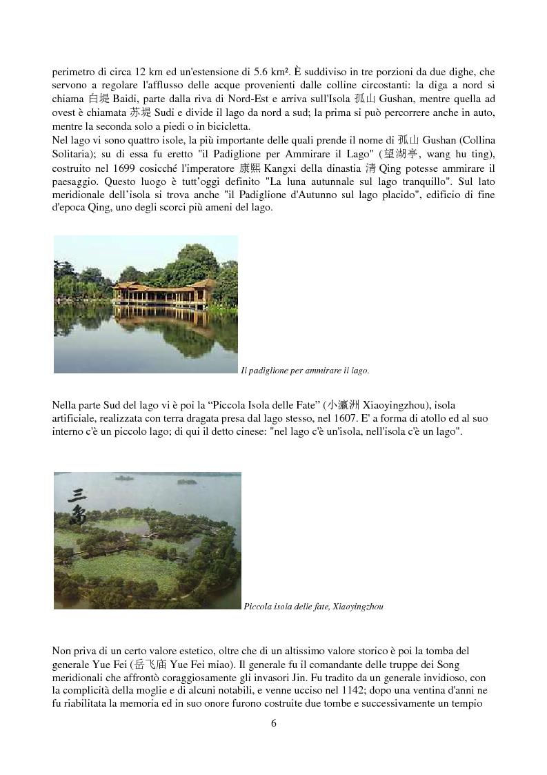 Anteprima della tesi: Hangzhou: il lago e gli amori, Pagina 4