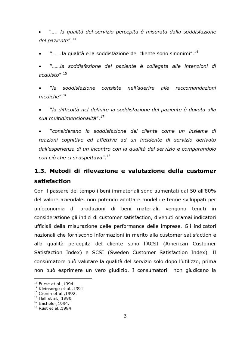 Anteprima della tesi: La Customer Satisfaction Nella Day Surgery ORL (Indagine Quantitativa), Pagina 6