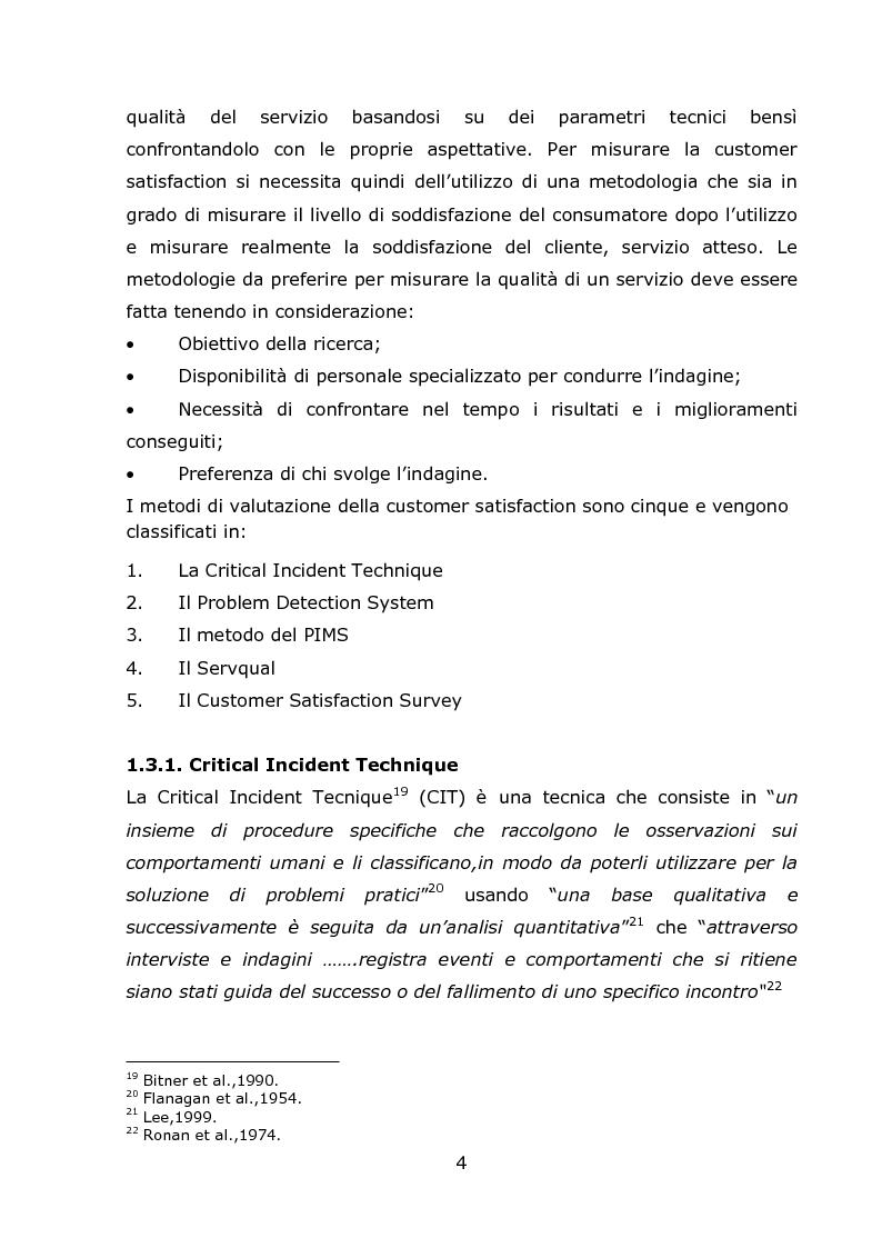 Anteprima della tesi: La Customer Satisfaction Nella Day Surgery ORL (Indagine Quantitativa), Pagina 7