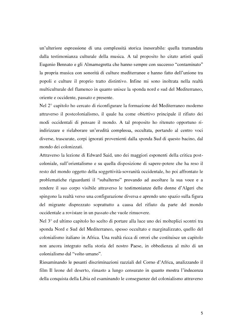 Anteprima della tesi: Il Mediterraneo migrante: tra il Colonialismo e il Postcolonialismo, Pagina 3