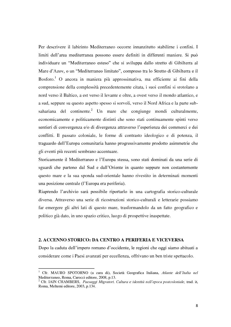 Anteprima della tesi: Il Mediterraneo migrante: tra il Colonialismo e il Postcolonialismo, Pagina 6