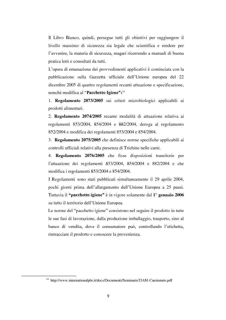 Anteprima della tesi: Tutela dei prodotti alimentari tipici in Italia e in Francia: il settore lattiero-caseario, Pagina 10
