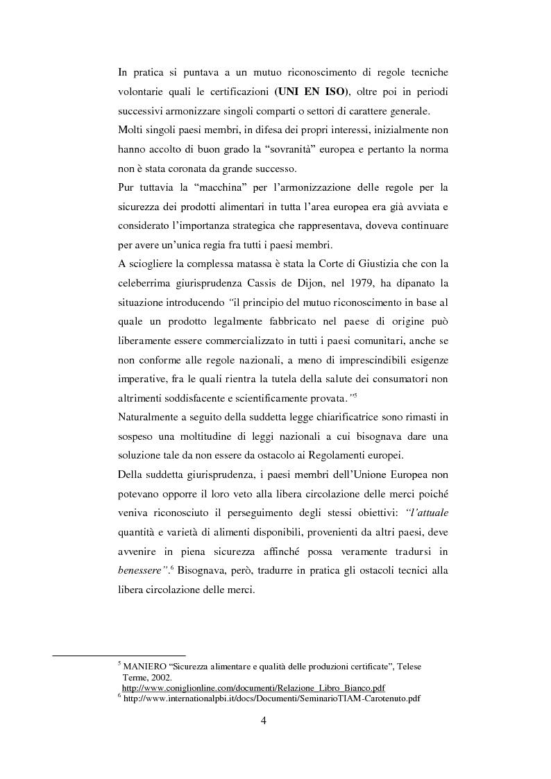 Anteprima della tesi: Tutela dei prodotti alimentari tipici in Italia e in Francia: il settore lattiero-caseario, Pagina 5