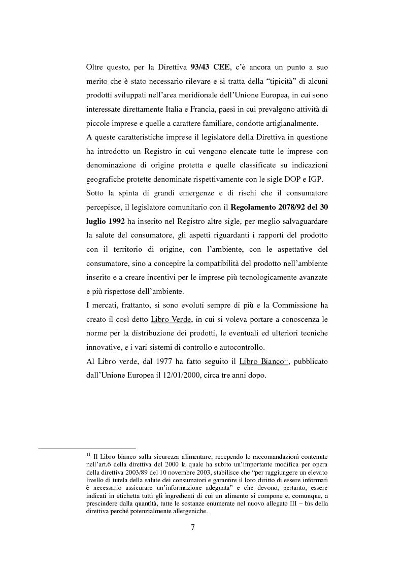 Anteprima della tesi: Tutela dei prodotti alimentari tipici in Italia e in Francia: il settore lattiero-caseario, Pagina 8
