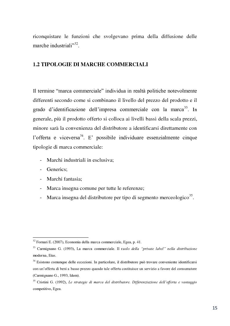Anteprima della tesi: L'evoluzione della marca commerciale: le politiche adottate dai principali player della GDO in Italia, Pagina 13