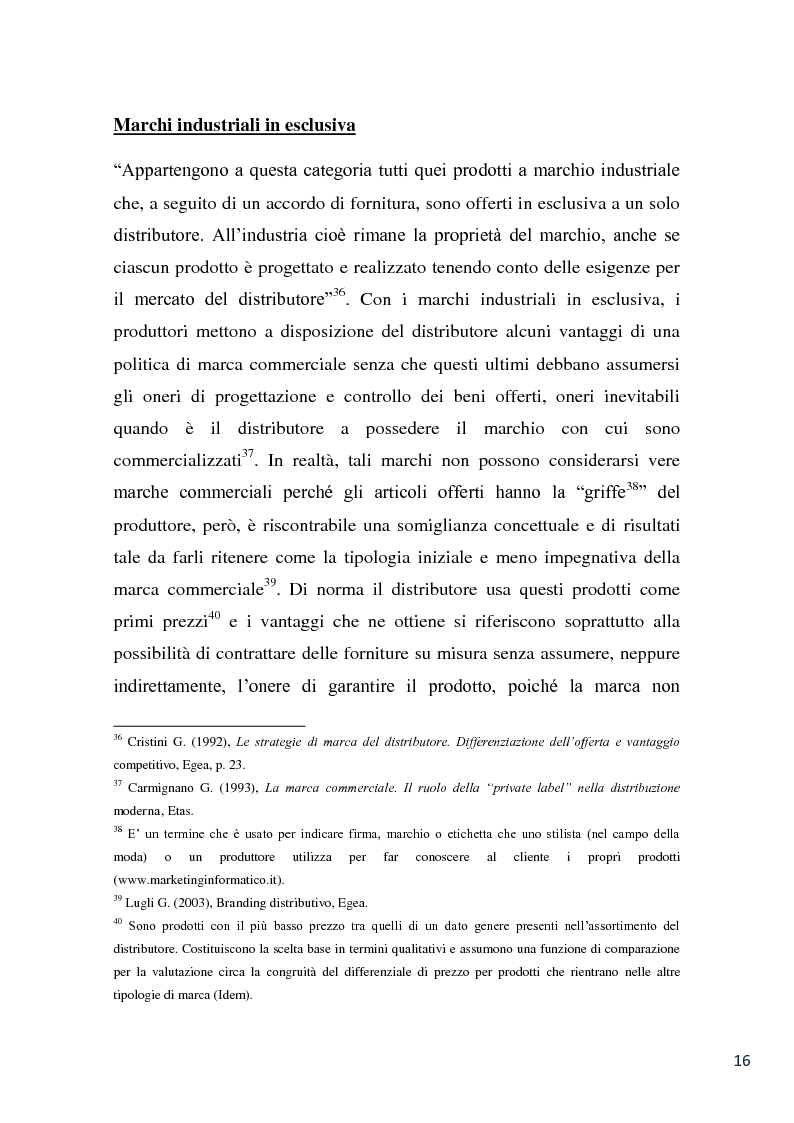 Anteprima della tesi: L'evoluzione della marca commerciale: le politiche adottate dai principali player della GDO in Italia, Pagina 14