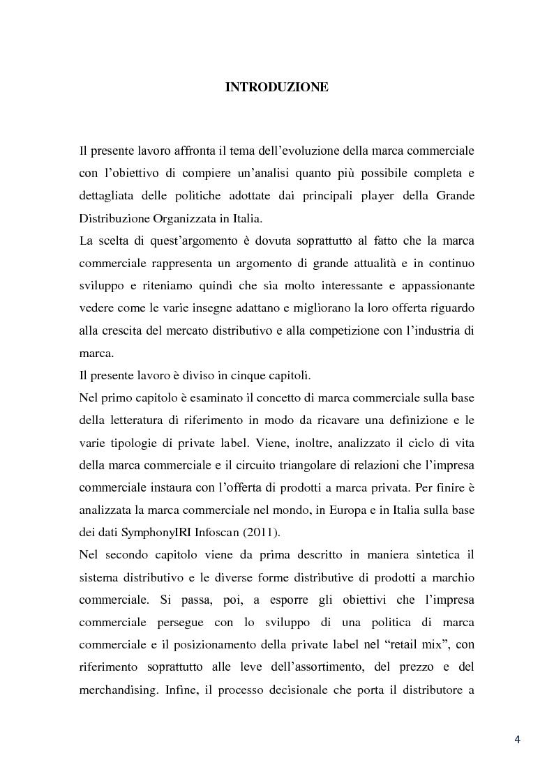 Anteprima della tesi: L'evoluzione della marca commerciale: le politiche adottate dai principali player della GDO in Italia, Pagina 2