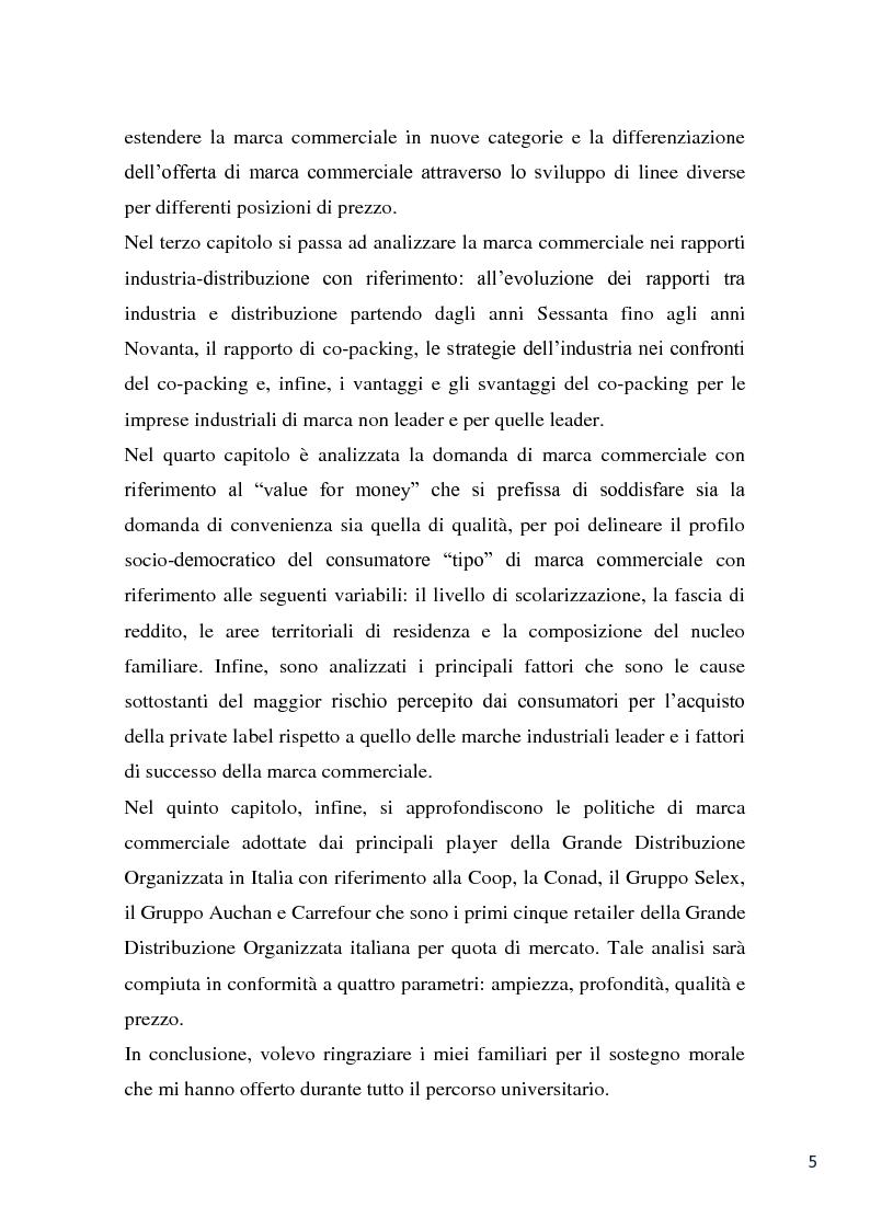 Anteprima della tesi: L'evoluzione della marca commerciale: le politiche adottate dai principali player della GDO in Italia, Pagina 3