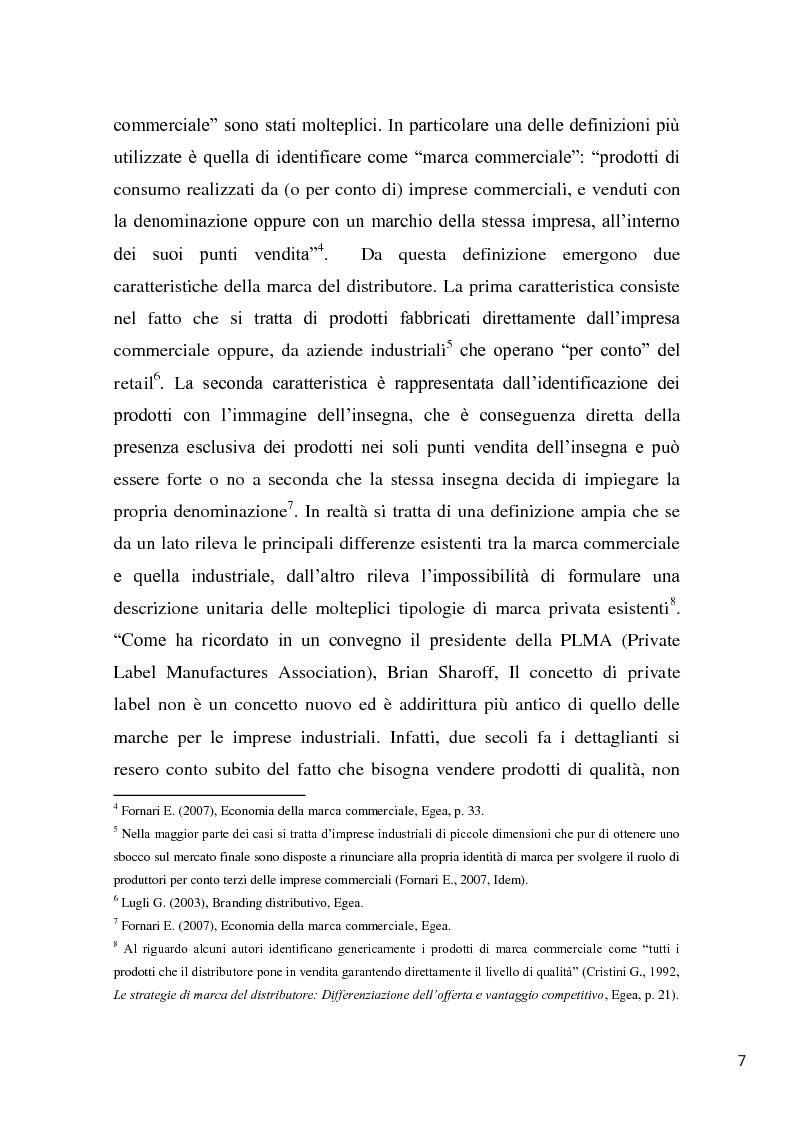 Anteprima della tesi: L'evoluzione della marca commerciale: le politiche adottate dai principali player della GDO in Italia, Pagina 5