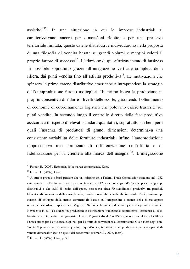 Anteprima della tesi: L'evoluzione della marca commerciale: le politiche adottate dai principali player della GDO in Italia, Pagina 7