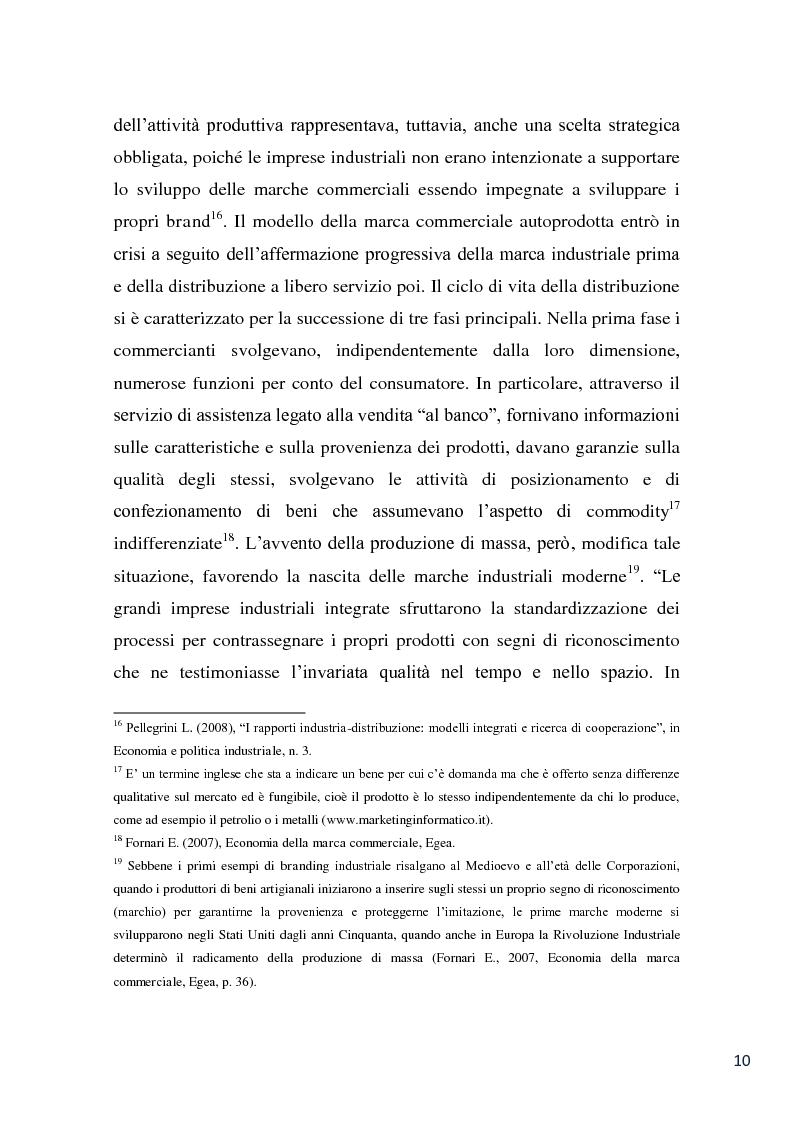 Anteprima della tesi: L'evoluzione della marca commerciale: le politiche adottate dai principali player della GDO in Italia, Pagina 8