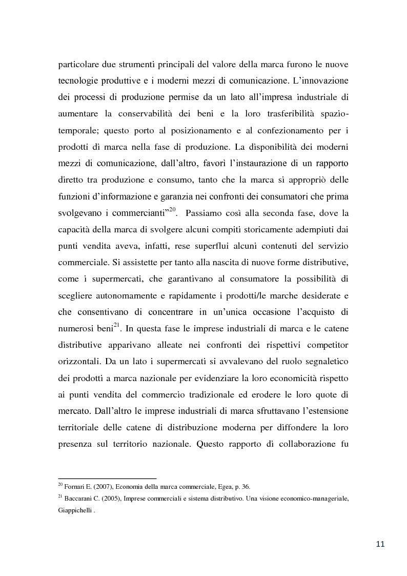 Anteprima della tesi: L'evoluzione della marca commerciale: le politiche adottate dai principali player della GDO in Italia, Pagina 9