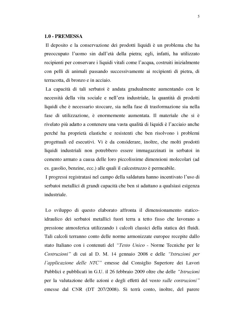 Anteprima della tesi: Serbatoi metallici fuori terra - Analisi e confronto di metodi progettuali e produttivi, Pagina 2