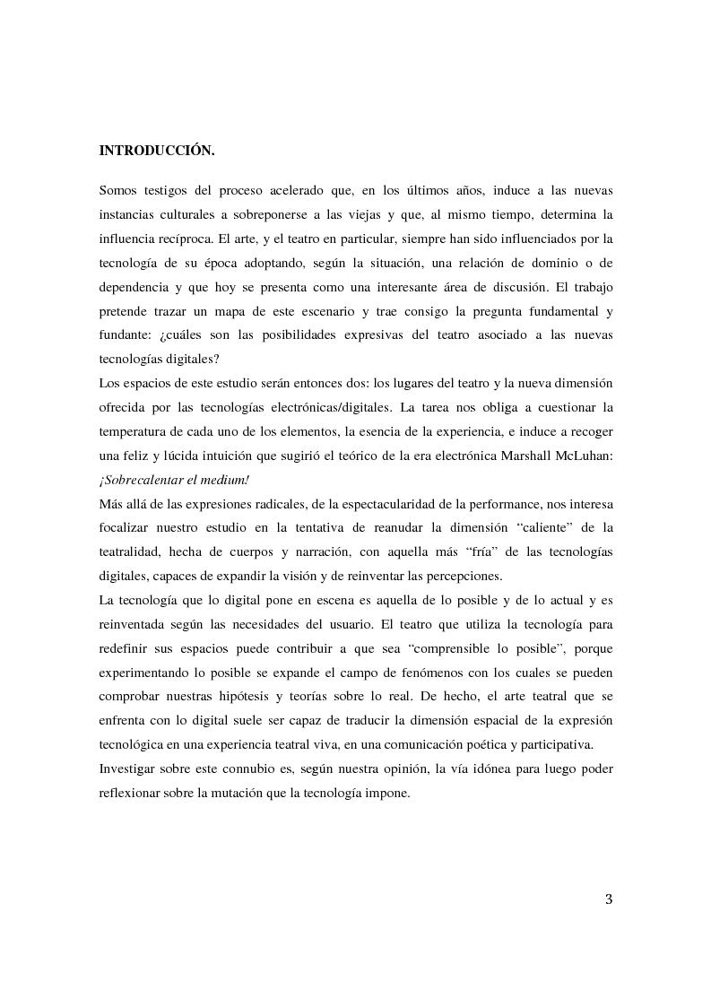 Anteprima della tesi: Teatro Digital. Poética y performatividad de los dispositivos multimedia y entornos web, Pagina 2