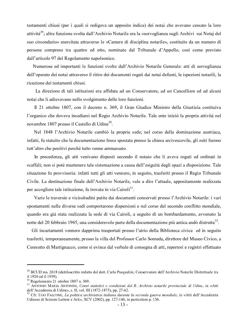 Estratto dalla tesi: Archivio notarile di Udine: riordinamento e inventariazione della serie ''Indici dei contraenti'' (sec. XIX) conservata presso l'Archivio di Stato di Udine