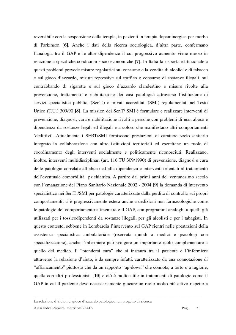 Anteprima della tesi: La relazione d'aiuto nel gioco d'azzardo patologico: un progetto di ricerca, Pagina 3