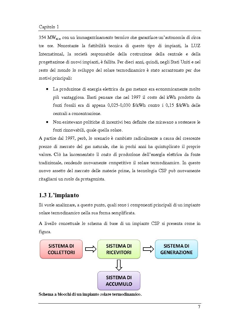 Anteprima della tesi: Analisi e simulazione termodinamica di un impianto ORC solare a concentrazione (CSP): ottimizzazione del ciclo e confronto con un impianto ad acqua, Pagina 8