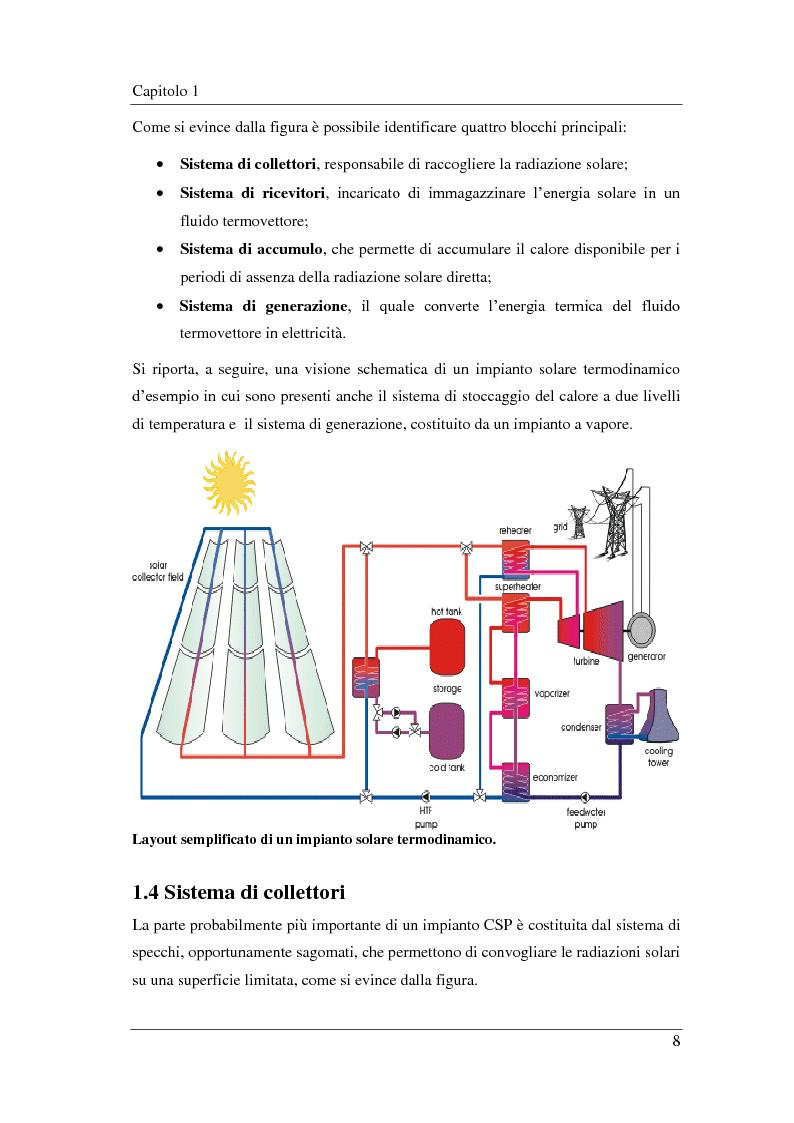Anteprima della tesi: Analisi e simulazione termodinamica di un impianto ORC solare a concentrazione (CSP): ottimizzazione del ciclo e confronto con un impianto ad acqua, Pagina 9