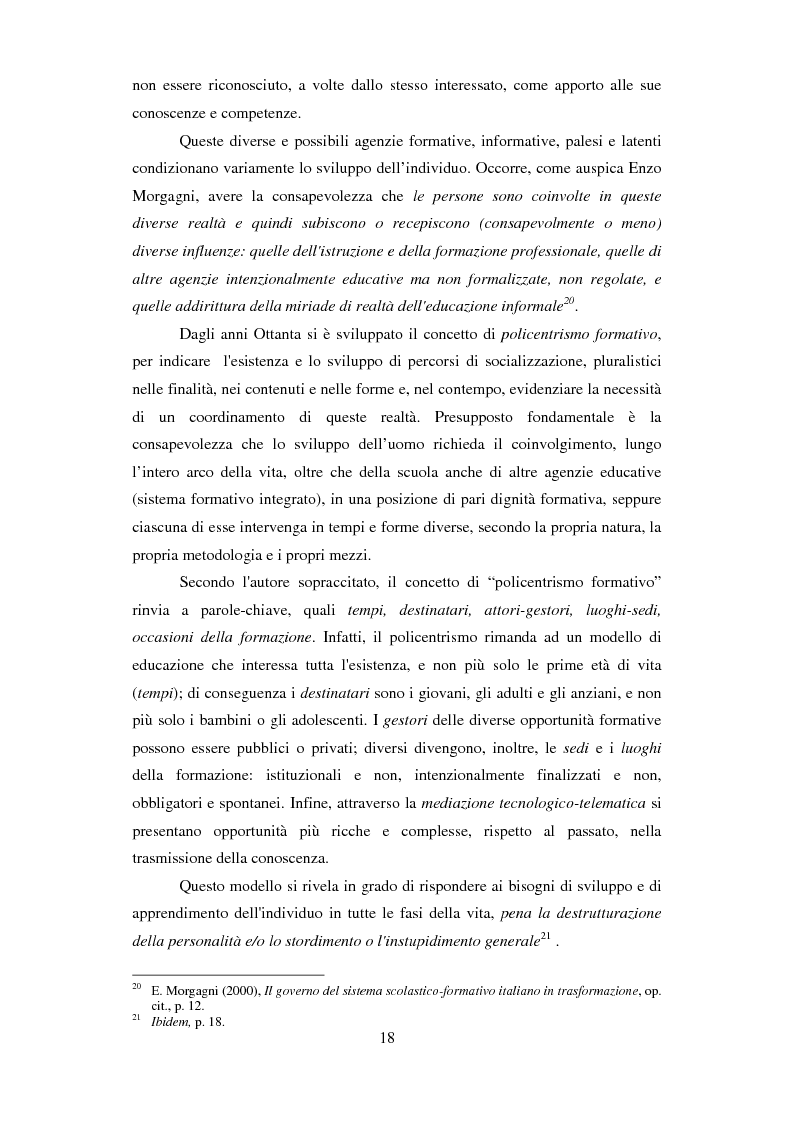 Estratto dalla tesi: Formazione e Progetto di vita. Alcuni studi e riflessioni collegati al territorio cesenate