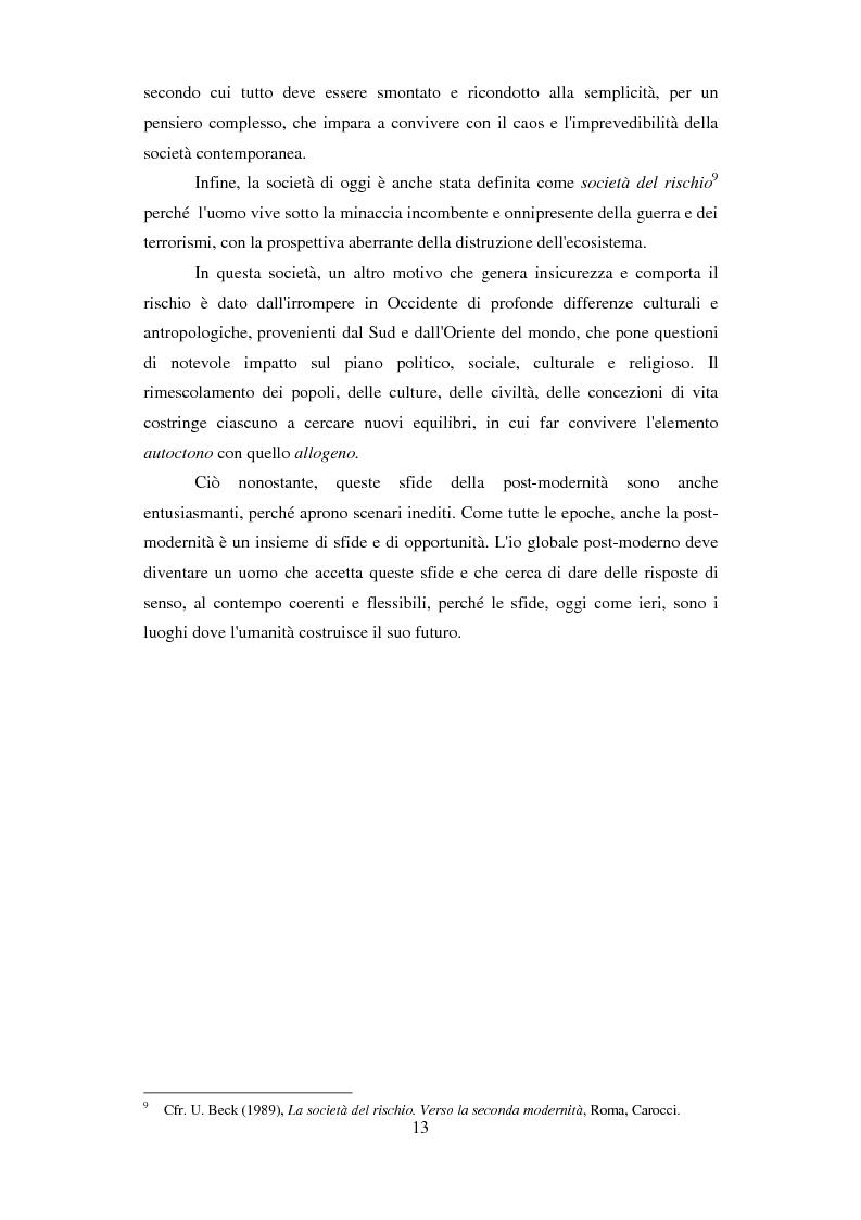 Anteprima della tesi: Formazione e Progetto di vita. Alcuni studi e riflessioni collegati al territorio cesenate, Pagina 11